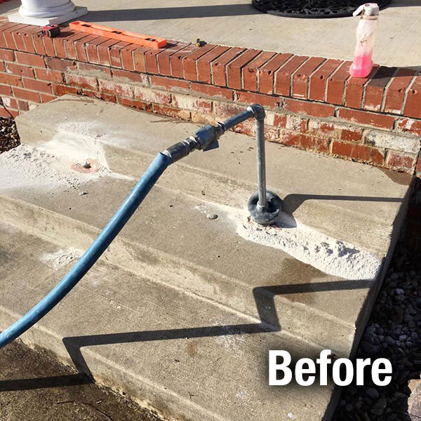 Richmond​ Concrete Steps Leveling - Before