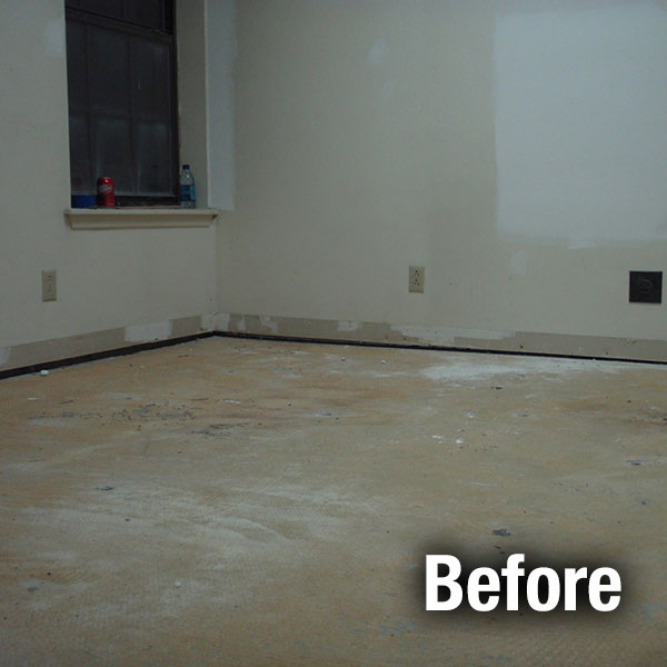 Richmond​ Concrete Floor Leveling - Before