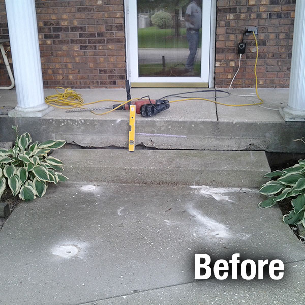 Richmond Concrete Step Repair - Before