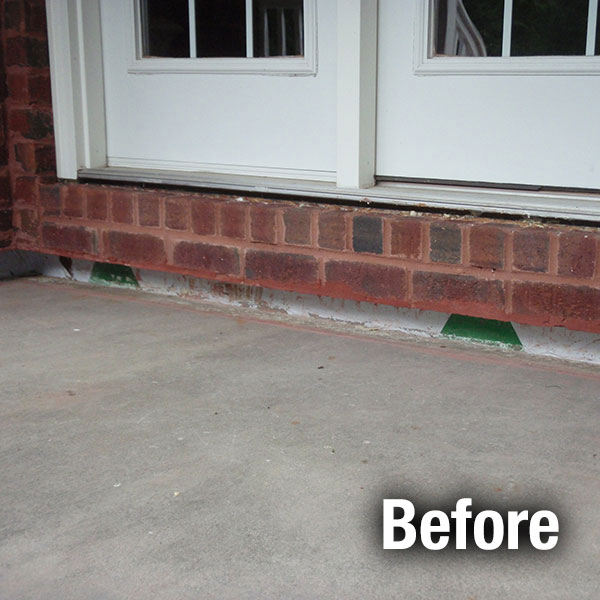 Richmond Concrete Porch Leveling - Before